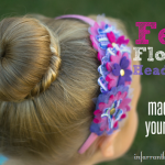 how to make felt flower headbands