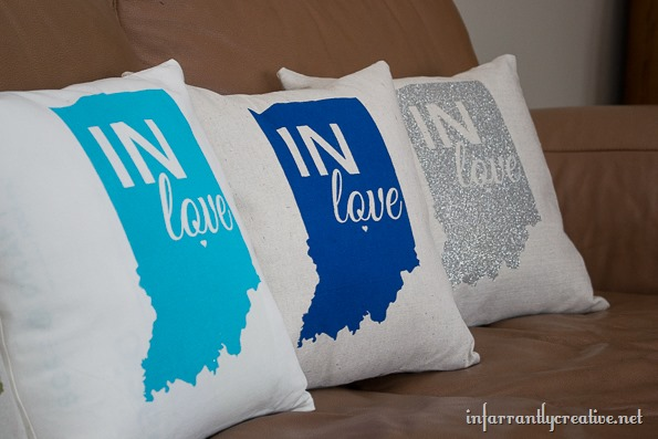 indiana state pillows