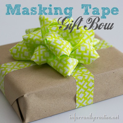 Make a Gift Bow out of Tape & Most Gifted Wrapper Contest