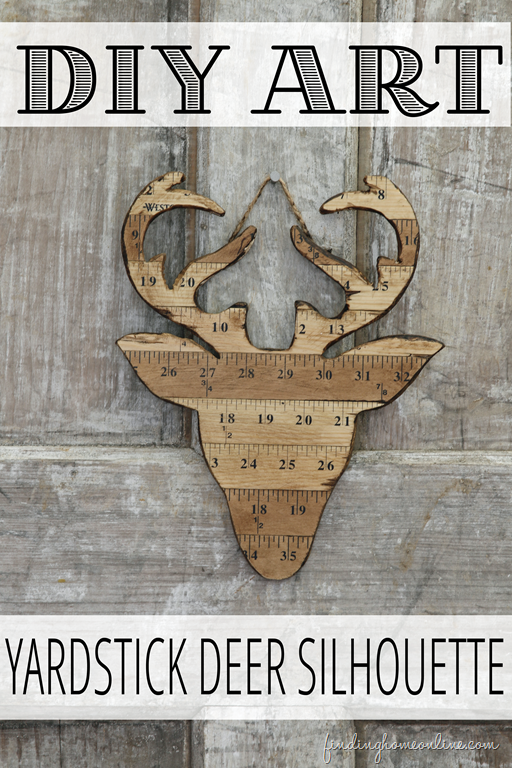 DIY Deer Art Silhouette made with Yardsticks