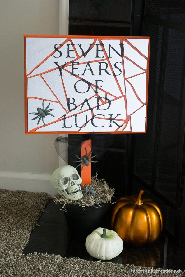 Seven Years of Bad Luck Halloween Sign {Krylon Mystery Box}
