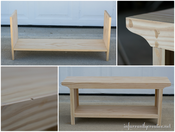 building a farmhouse bench