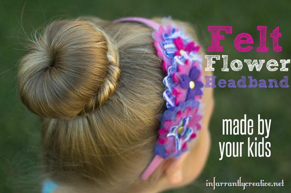 felt,flower-headband