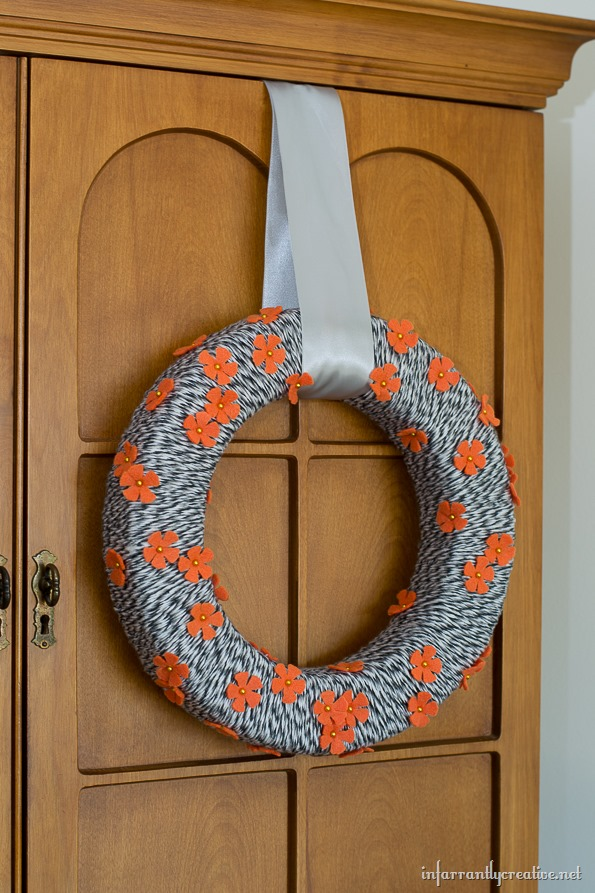 hanging wreath from door