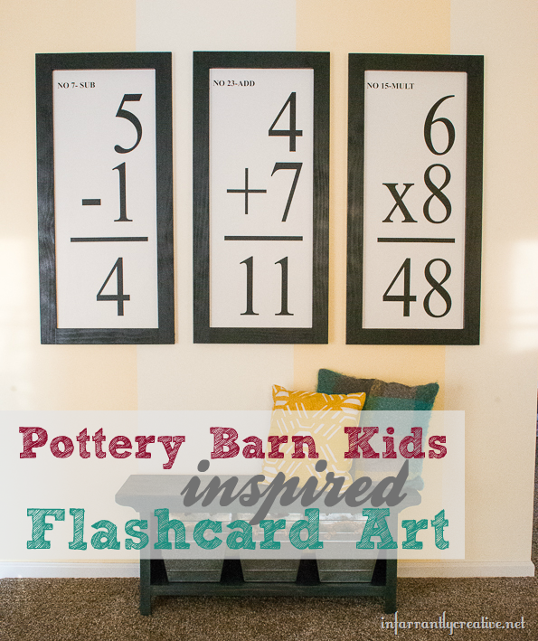 Pottery Barn Inspired Oversized Flashcard Art