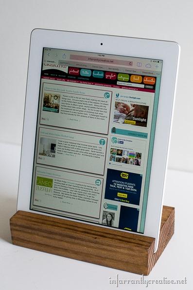 ipad wood stand