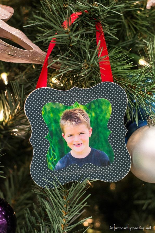decoupaged ornaments