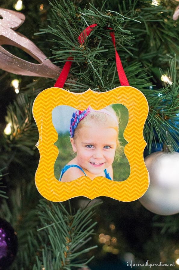 shaped frame ornaments