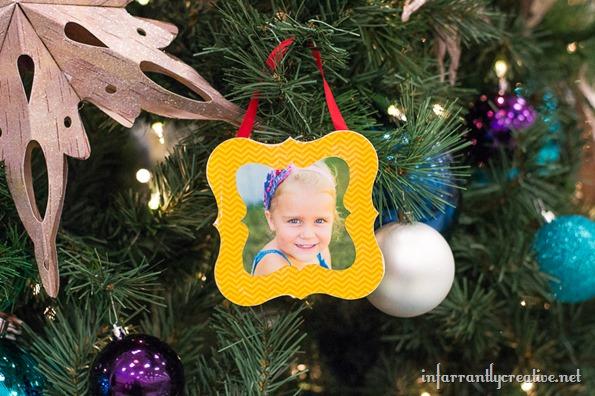Mod Podge Christmas ornament