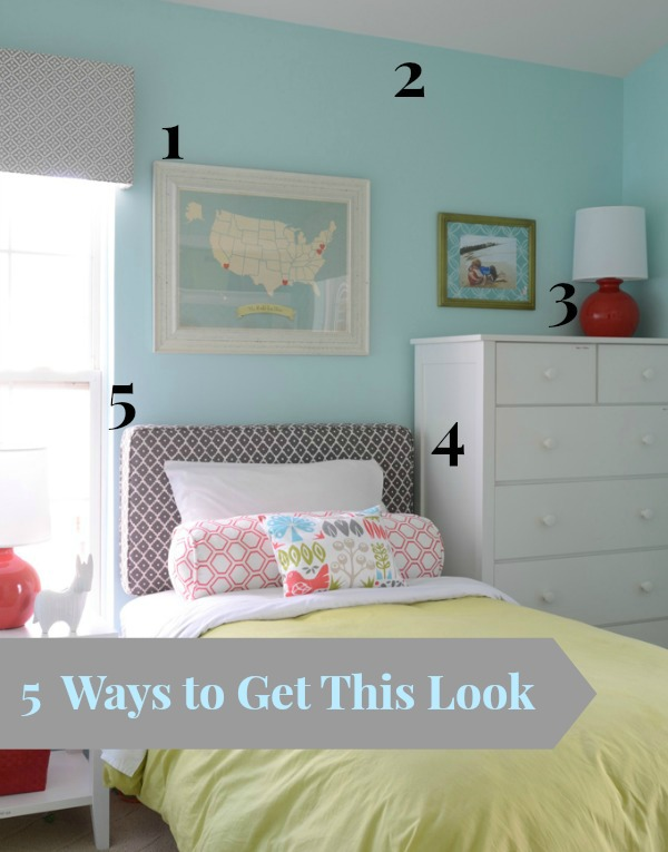 House of Turquoise shared bedroom numbered