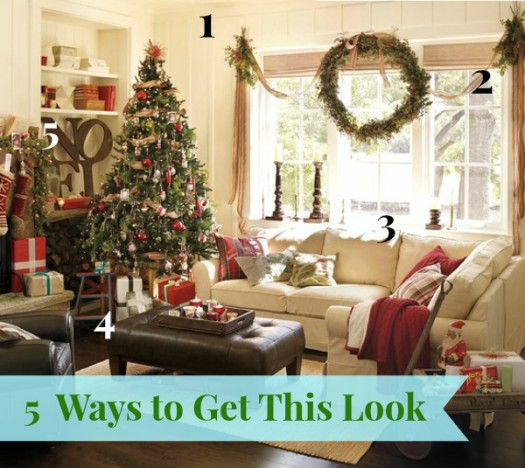 5 Ways to Get this Look:  Festive Family Room