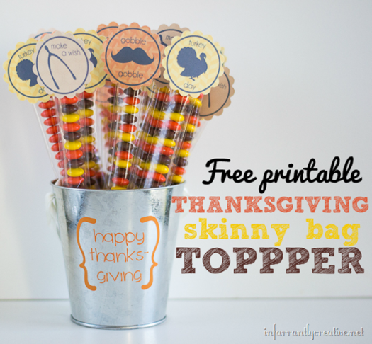 Thanksgiving Candy Bags Favor Printable