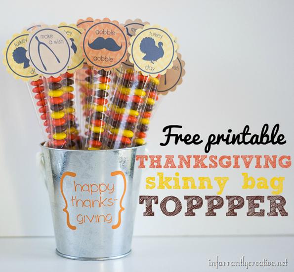 Thanksgiving Candy Bags Favor Printable Infarrantly Creative