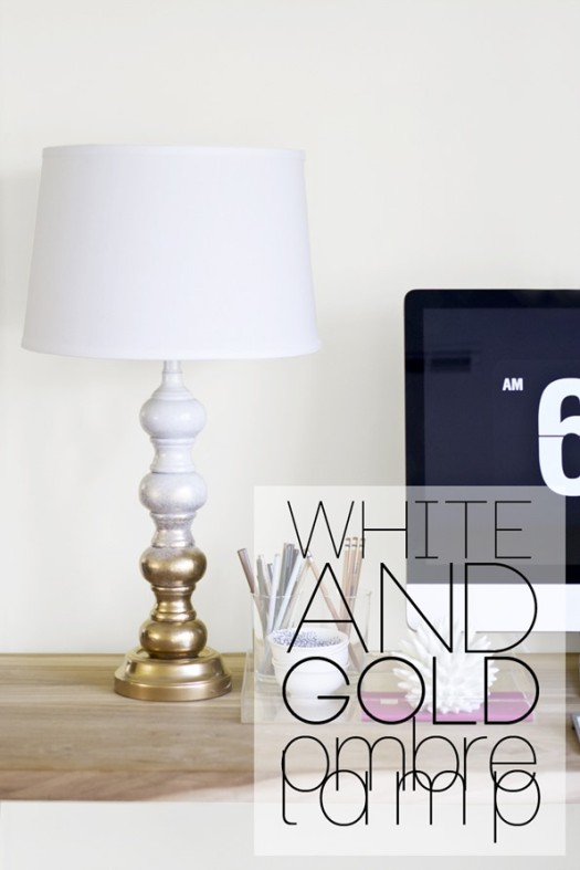 gold ombre lamp
