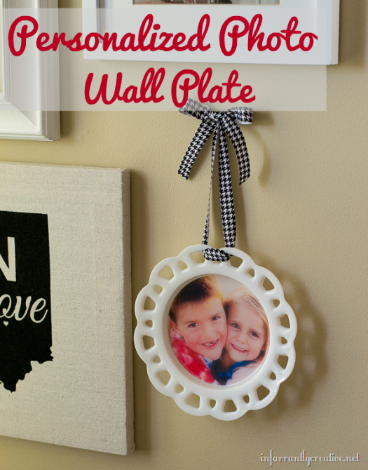 personalized photo plate