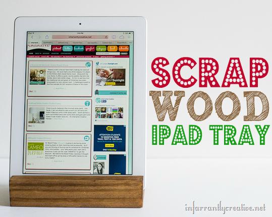 scrap wood ipad tray