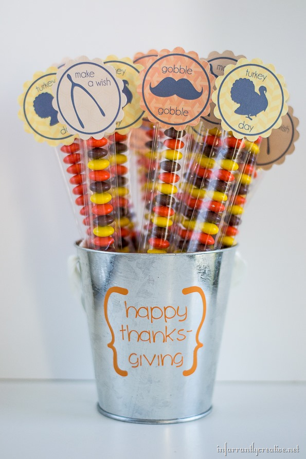 thanksgiving printable cupcake topper