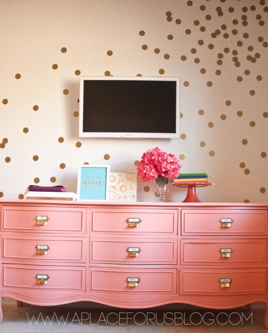 A Place For Us gold dot wall