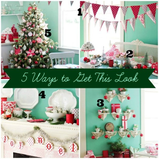 BHG Aqua Poppy Christmas Collage Numbered