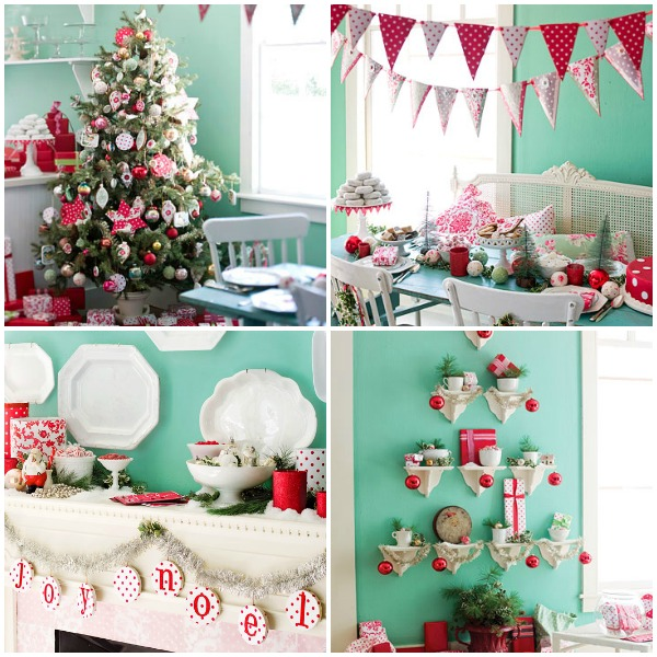 BHG Aqua Poppy Christmas Collage