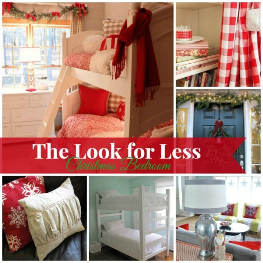 Christmas Bedroom square collage