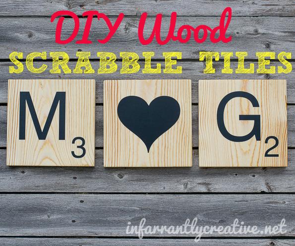 DIY wood scrabble tiles