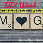 DIY wood scrabble tiles