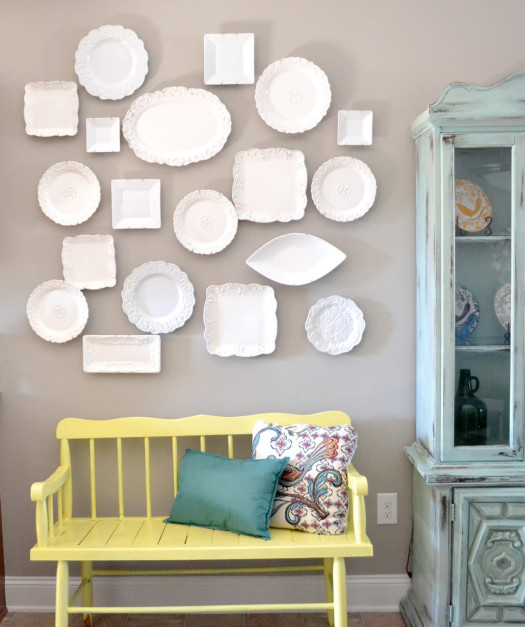 Liz Marie Blog plate wall diy