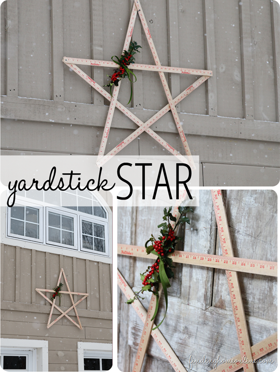 Wood yardstick star - Stars for walls decorating ...