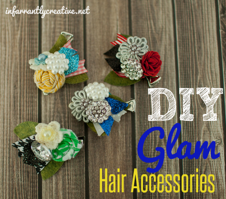 DIY glam hair accessories