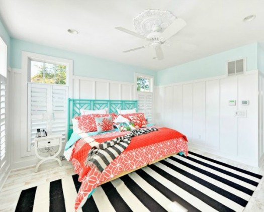 House of Turquoise beachy bedroom
