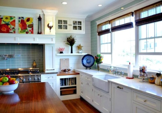 House of Turquoise white kitchen
