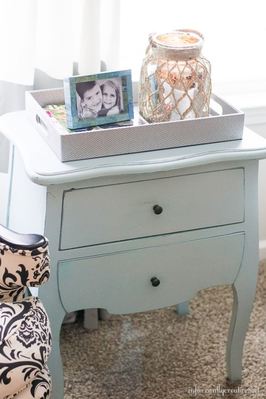 Infarrantly Creative chalk painted nightstand