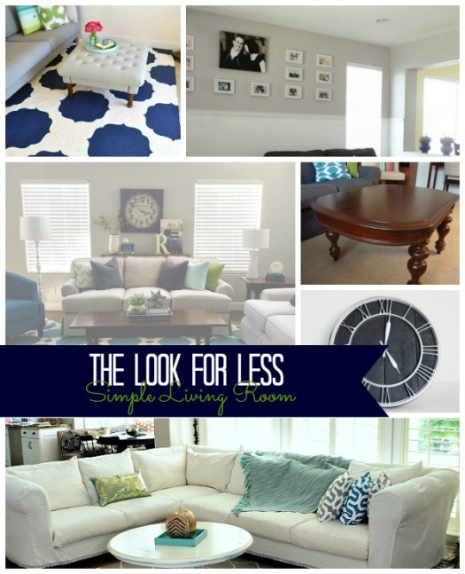 5 Ways to Get This Look:  Simple Living Room