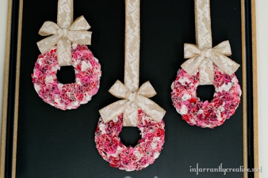 Valentine's Day Trio of Mini Ruffle Wreaths