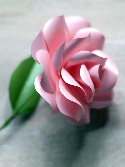 DIY network paper rose tutorial