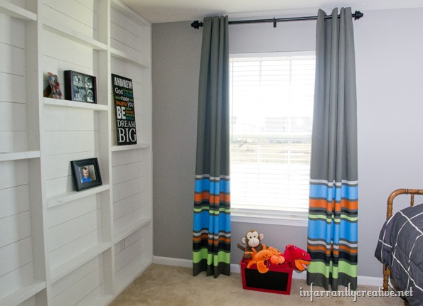DIY striped painted curtains