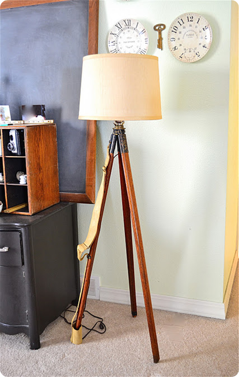 Knock Off Decor diy tripod floor lamp