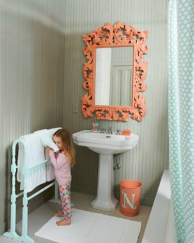 5 Ways to Get This Look: Coral and Gray Bathroom Ideas ...
