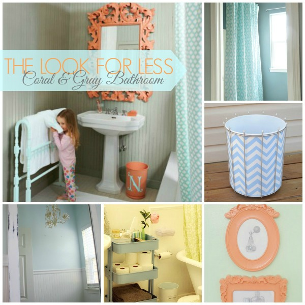 home garage organization ideas - 5 Ways to Get This Look Coral and Gray Bathroom Ideas