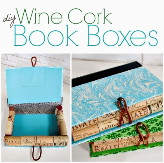 Recycled Wine Cork Book Boxes
