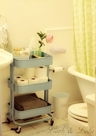 ikea raskog turquoise. 5 Ways to Get This Look  Coral and Gray Bathroom Ideas