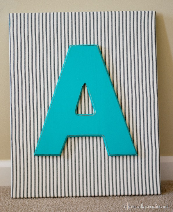 monogram boys room decor