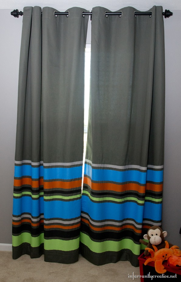 painted stripes curtain tutorial