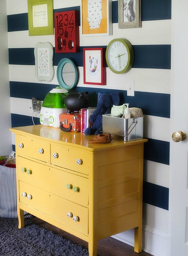 striped-wall-yellow-dresser-nursery