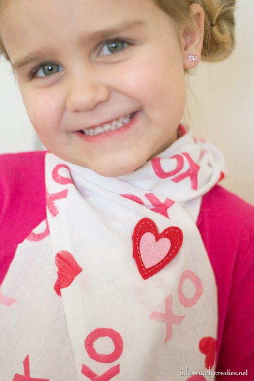Fabric Stamped T-shirt Scarf {UPCYCLE}