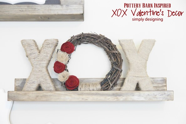 pottery barn valentine's day xoxo wreath