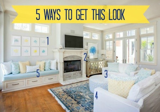 5 Ways to Get This Look:  Spring Living Room