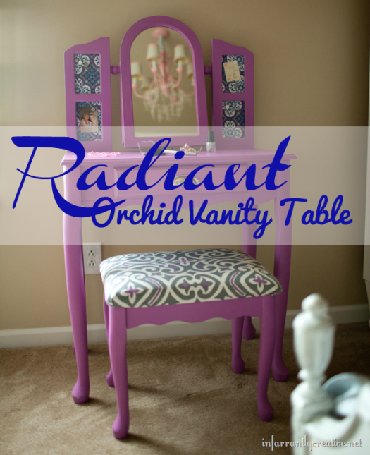 Radiant Orchid Painted Vanity Table