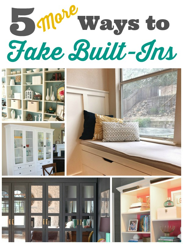 5 More Ways To Fake Built In Shelving The Sequel